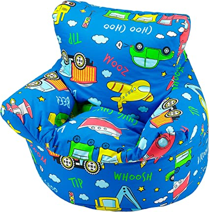 Childrens Bean Bag Chair 100 Cotton 7 Designs Childrens Bean Bag Chair Extra Small 50x50x50cm For 0 3 Years Cars And Toys Amazon Co Uk Kitchen Home