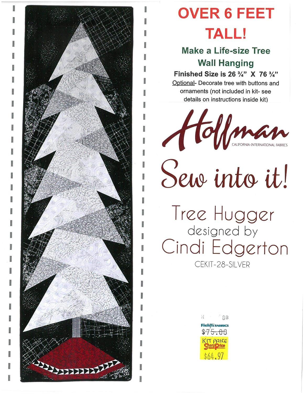 Cindi Edgerton キルトキット - 26.75インチ x 76.75インチ ツリーハガー クリスマスツリー 壁掛け ホリデー お祝い キルトキット キルト - キット販売 (CEKIT-28-SILVER) M409.13 B07K366MM9