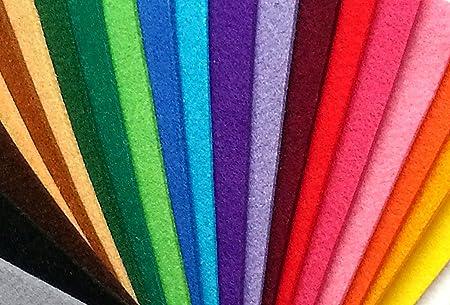 Pack Fieltro grueso 3mm.- 28 colores (20x10 cm.): Amazon.es: Hogar