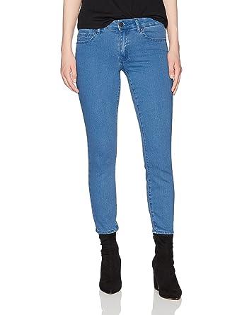 e0ea9f9154b0 Lily Parker Women's Classic Stretch Slim Fit Curvy Skinny Jeans 25 Dark Blue