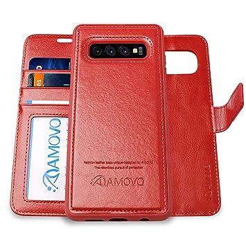 20aed33c32 Amazon | AMOVO Galaxy S10 ケース 手帳型 分離式 取り外し自由 SCV41 SC ...