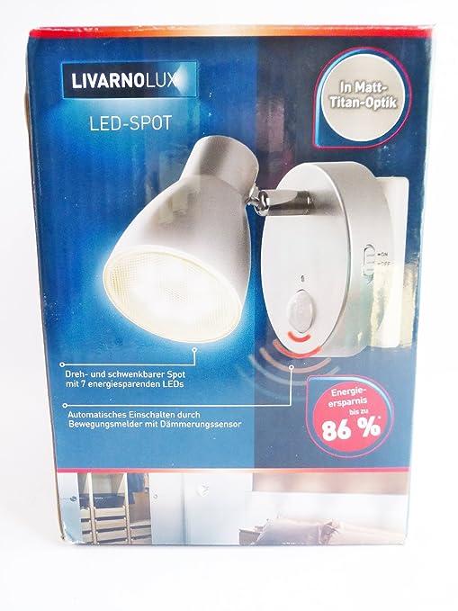 Livarno LED Spot Lámpara Luz para el Enchufe Luz Nocturna Encendido automático por Detector de Movimiento