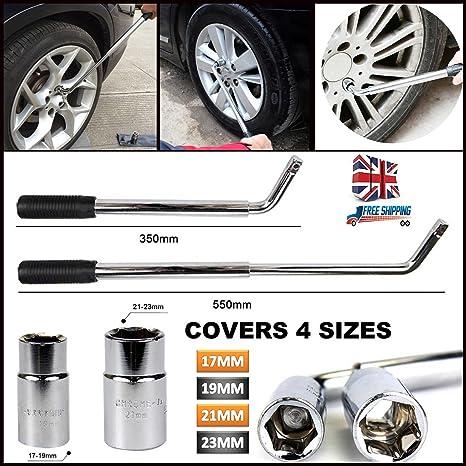 Coche neumático Remover extensible rueda Brace 17 19 21 & 23 mm llave de vaso