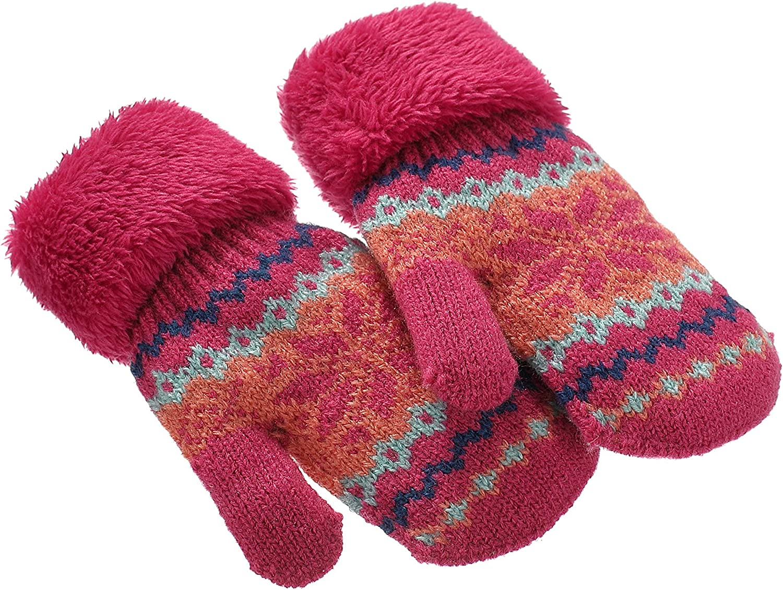 Mittens for Toddler Girls 3-6,Sheepskin Kid Mittens Winter Snowstoppers Pink