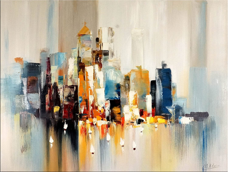Amazon.de: Acrylbild / Gemälde - Skyline von New York - Martin Klein ...