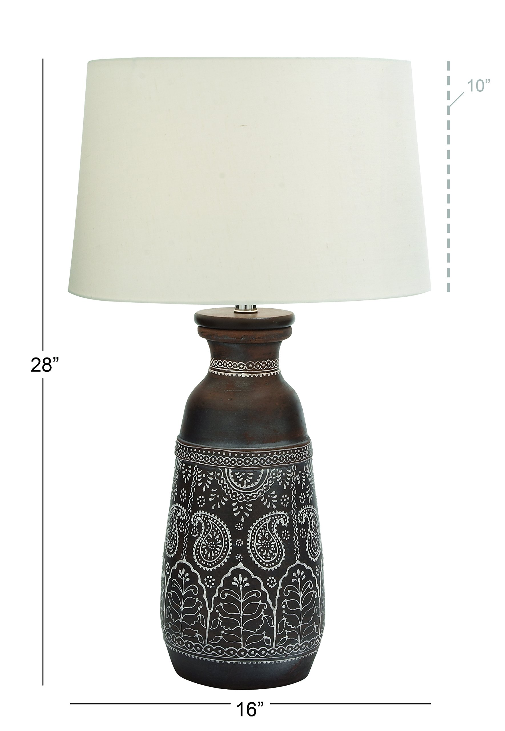 Deco 79 94425 Terracotta Table Lamp, 28''