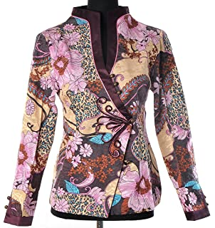 Elegant asian flower jacket