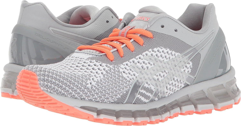 ASICS Women's Gel-Quantum 360 cm Running Shoe B0789SLVHK 6.5 B(M) US|Knit Mid Grey/Glacier/Coral