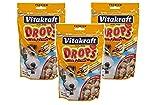 VitaKraft Drops with Peanut Dog Treat Snacks - 3 P
