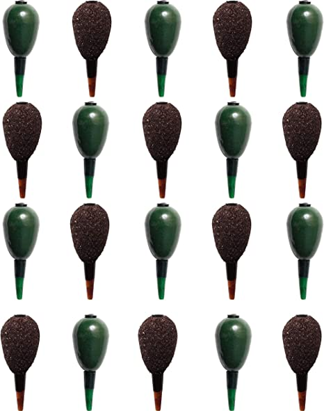 20 x Bulk Pack of CARP FLAT PEAR IN LINE and GRIP Coarse Fishing Weights Assorted Textured and Green Available in 1.5 2.0 2.5 and 3.0 oz