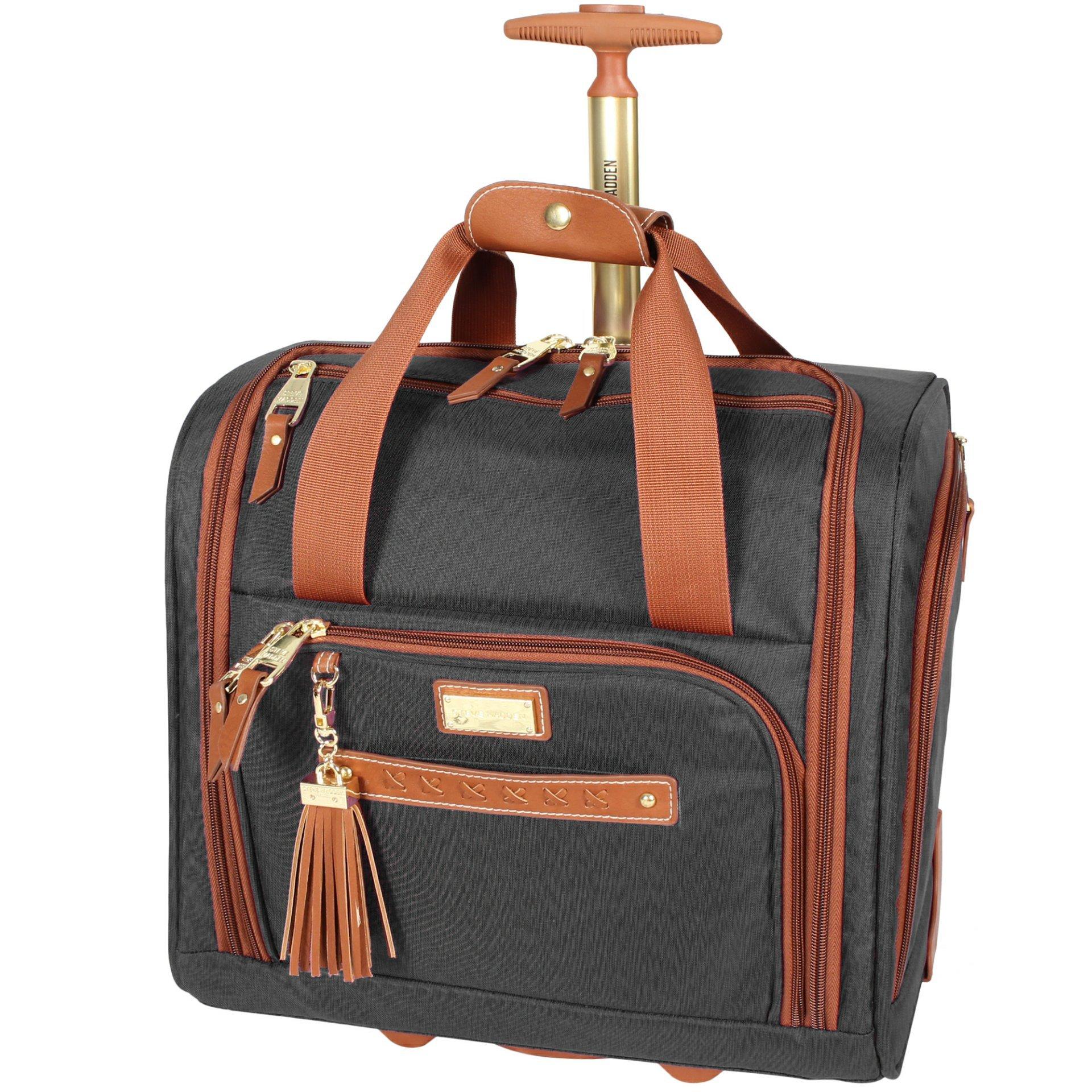 Steve Madden Global Wheeled Under Seat Bag (Black)
