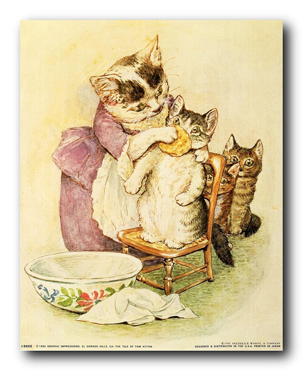 Amazon.com: The Tale of Tom Kitten Beatrix Potter Kids Room Art ...