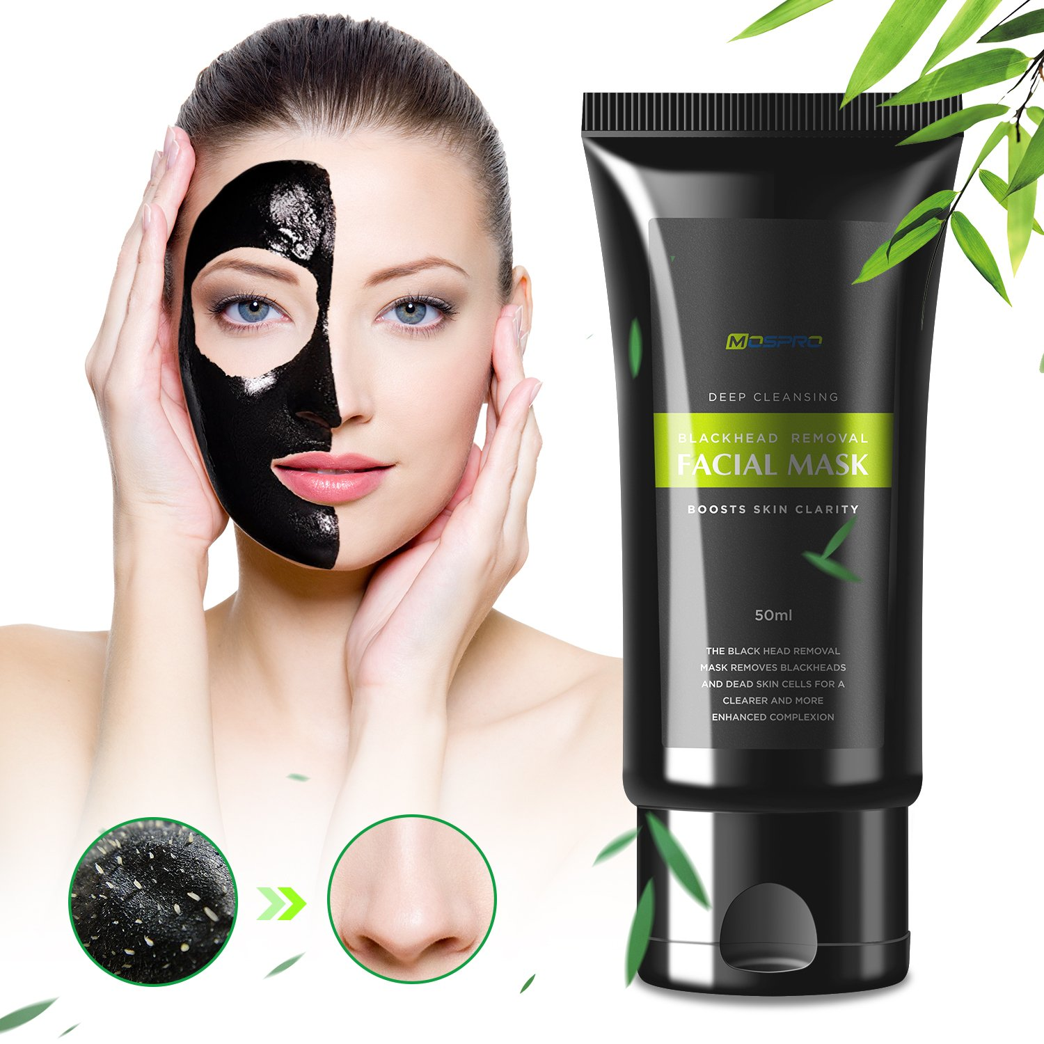 Amazon.com   Blackhead Remover Black Mask - Deep Cleansing Charcoal Peel off  Purifying Face Mask for Men and Women   Beauty d89c62c0bf