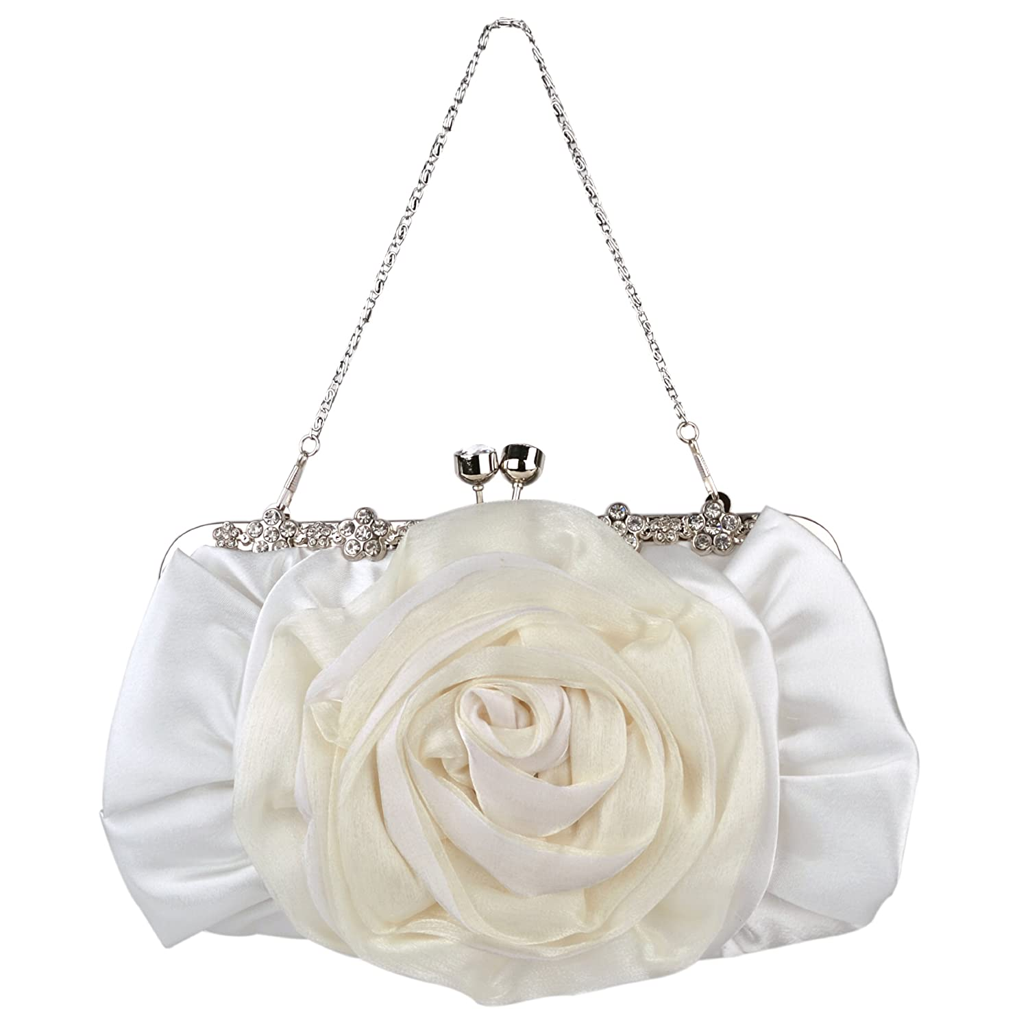 MG Collection - Cartera de mano para mujer blanco blanco: Amazon.es: Zapatos y complementos