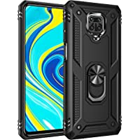 Bereajoy for Redmi Note 9 Pro Case, PC + TPU Rubber Military Grade Drop Test Heavy-Duty Double-Layer Protection Drop-Proof Mobile Phone case for Xiaomi Redmi Note 9S