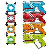 BestChoiceProducts.com deals on Set of 4 Laser Tag Blasters w/ Vests