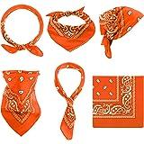 Paisley Bandanas Cowboy Bandanas Unisex Novelty Print Head Wrap Scarf Wristband for Adults and Kids