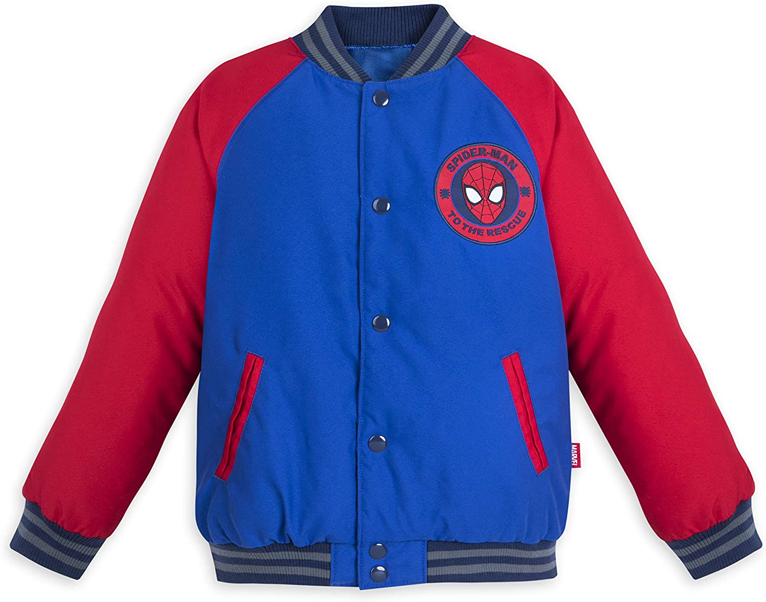 OFFICIAL LICENSED MARVEL SPIDERMAN COLLEGE VARISTY JACKET NEW
