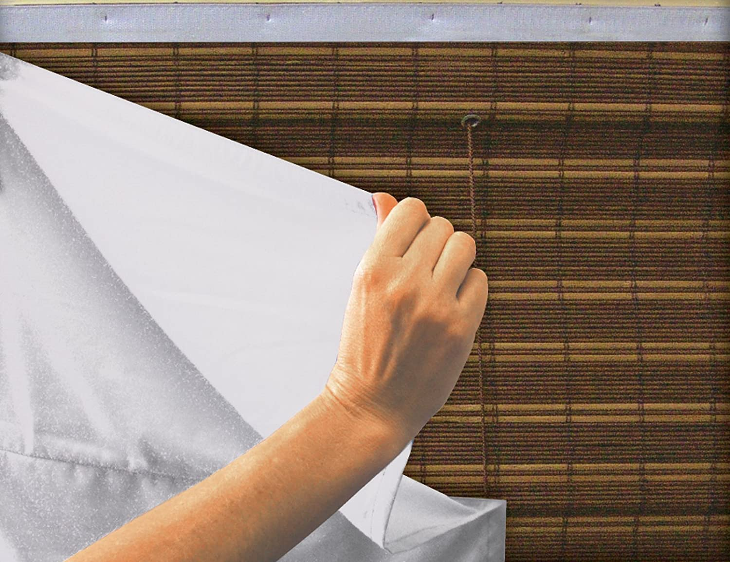 Lewis Hyman 0200910 Radiance 27-Inch Wide by 72-Inch Length Privacy Liner for Woven Wood Bamboo Roman Shade