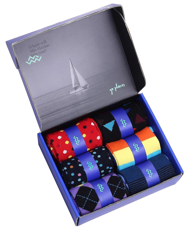 Colorful Funky Socks for Men 6 Pack Mio Marino Mens Dress Socks