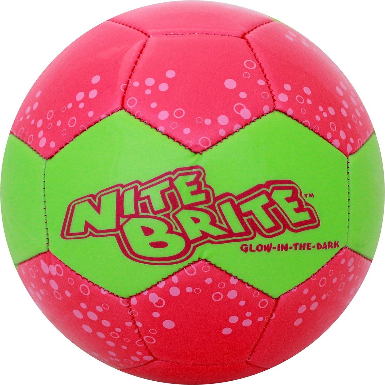 Baden Nite Brite Resplandor en la oscuridad tamaño 4balón de fútbol - S140G-104, Rosado (Pink/Glow)
