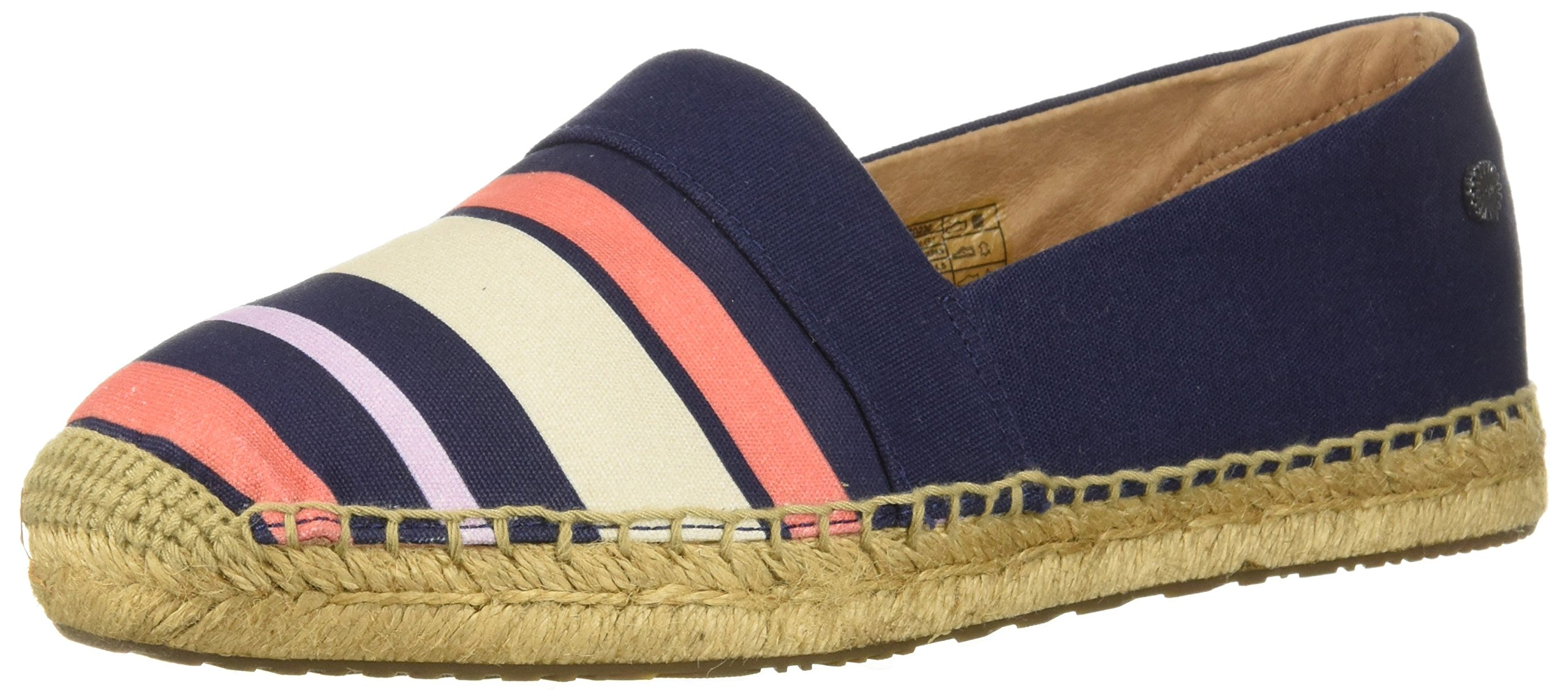 UGG Women's Reneda Stripe Loafer Flat, Navy, 10 M US