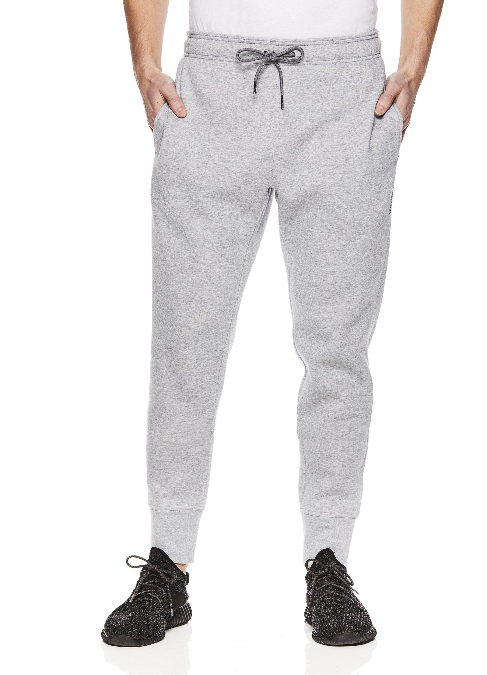 Reebok Men's Core Performance Jogger Workout Pants- Light Grey Ash, Medium
