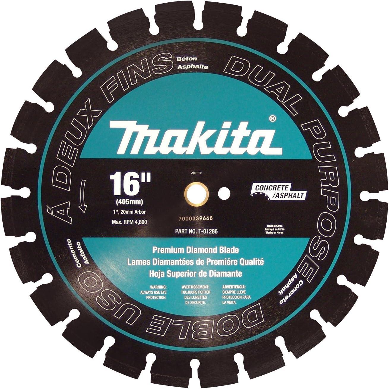 Makita T-01286 16-Inch Diamond Blade Segment Dual Purpose