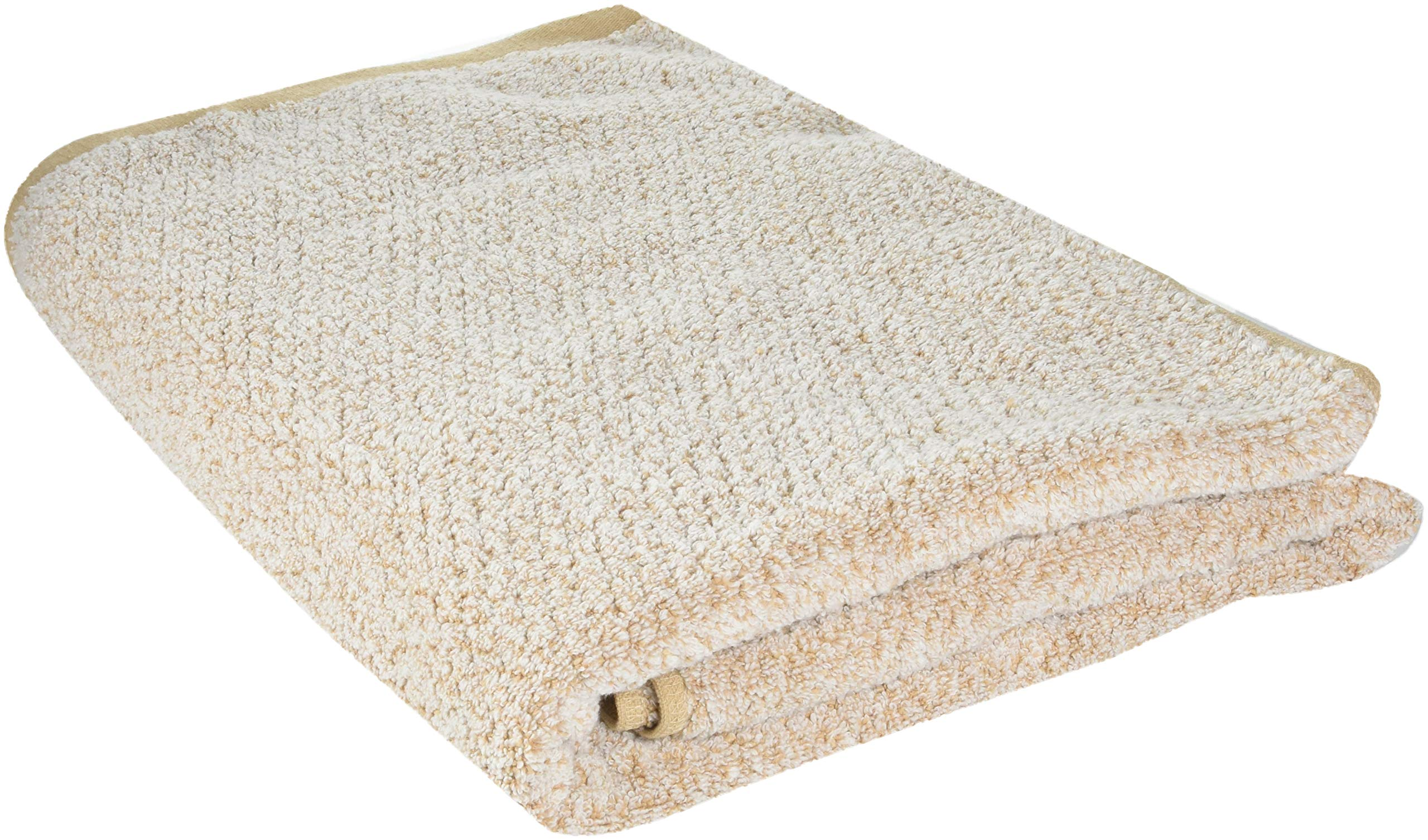Everplush Diamond Jacquard Bath Sheet 2 Pack in Brown