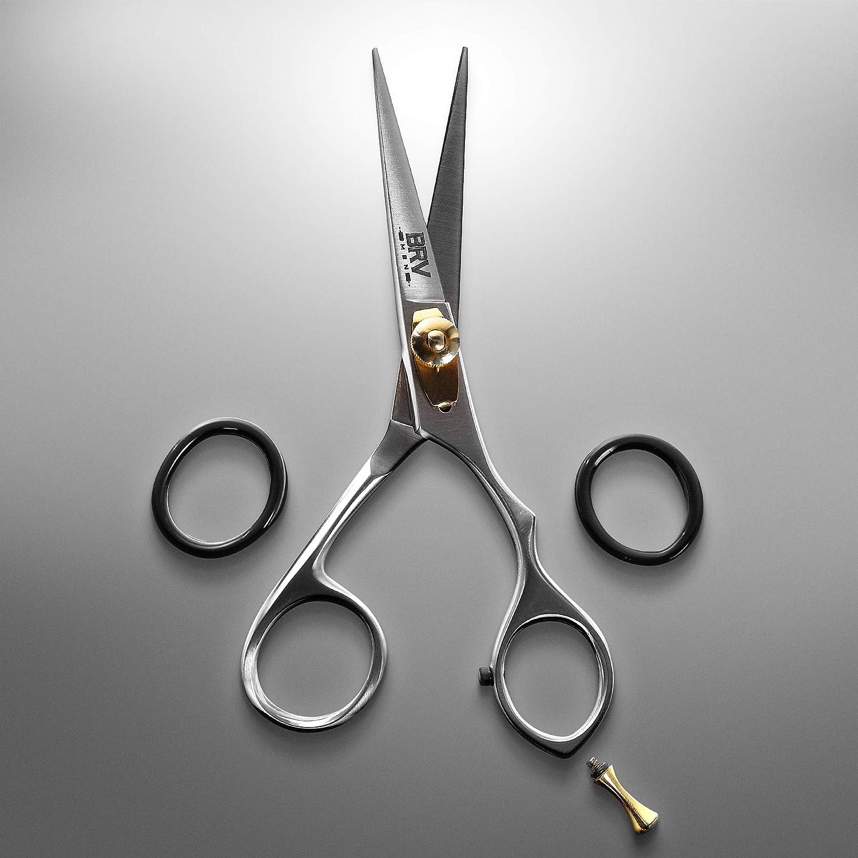 BRV MEN Facial Hair Scissors for Men  Mustache & Beard Trimming
