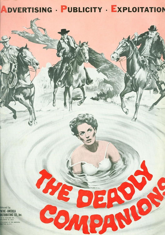 The Deadly Companions (1961) Maureen O'Hara Brian Keith Steve Cochran pressbook