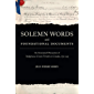 Solemn Words and Foundational Documents: An Annotated Discussion of Indigenous-Crown Treaties in Canada, 1752-1923