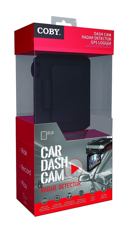 Coby DCS-404 2.5-Inch Swivel Screen 1080p Car Dash Cam and DVR Box Black