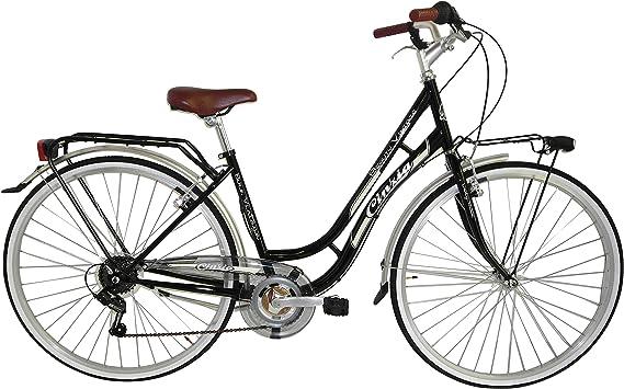 Cicli Cinzia Bicicleta Beauty Mujer, Marco de Acero, 6 Marchas, 28 ...