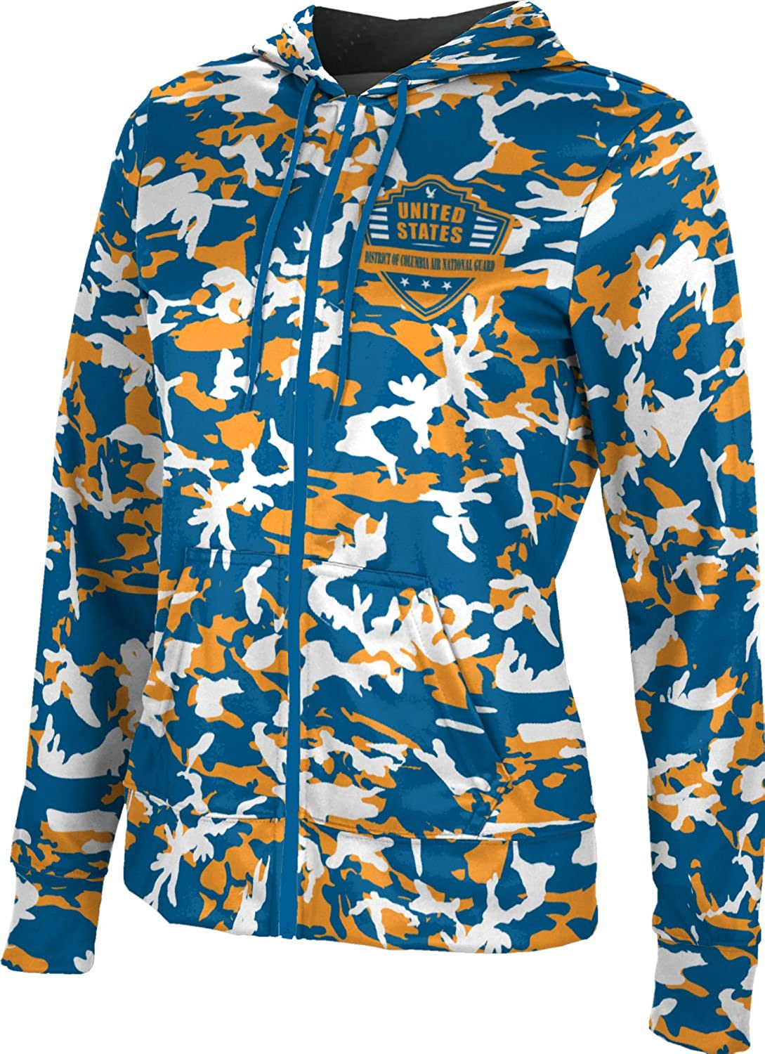 Women's District of Columbia Air National Guard Military Camo Fullzip Hoodie