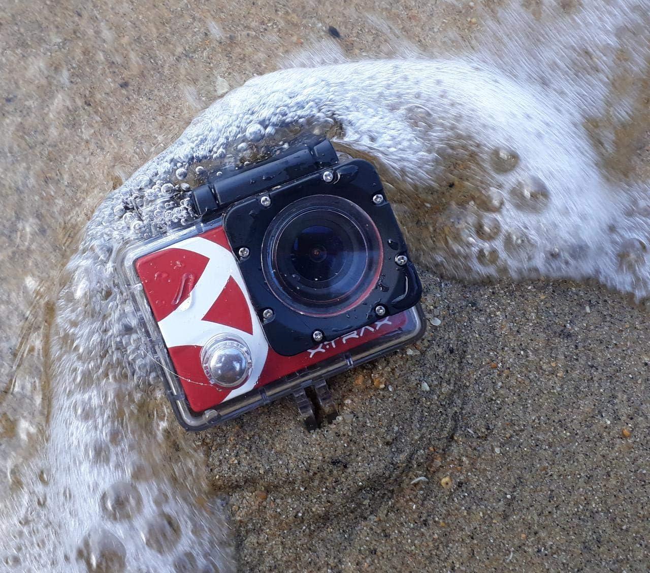 Câmera de Ação 4K Smart2, Xtrax, Vermelho