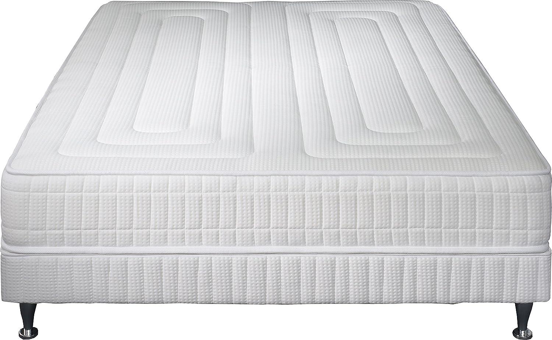 Simmons k11W140200Prag Matratze + Lattenrost + Fuß weiß 200x 140x 39cm