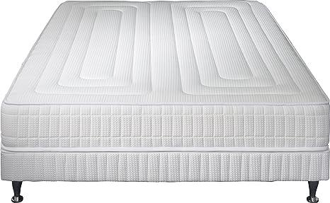 Simmons Praga Juego de colchón + somier + pie, Blanco, 140 x 200 cm