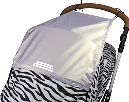 Universal Pram Sunshade with UV Protection 50+ and Up and Down Slide Function Pushchair Sun Shade Canopy Sunshade and Blackout Blind for Carrycots//Buggy Grey Baby Stroller Sun Cover