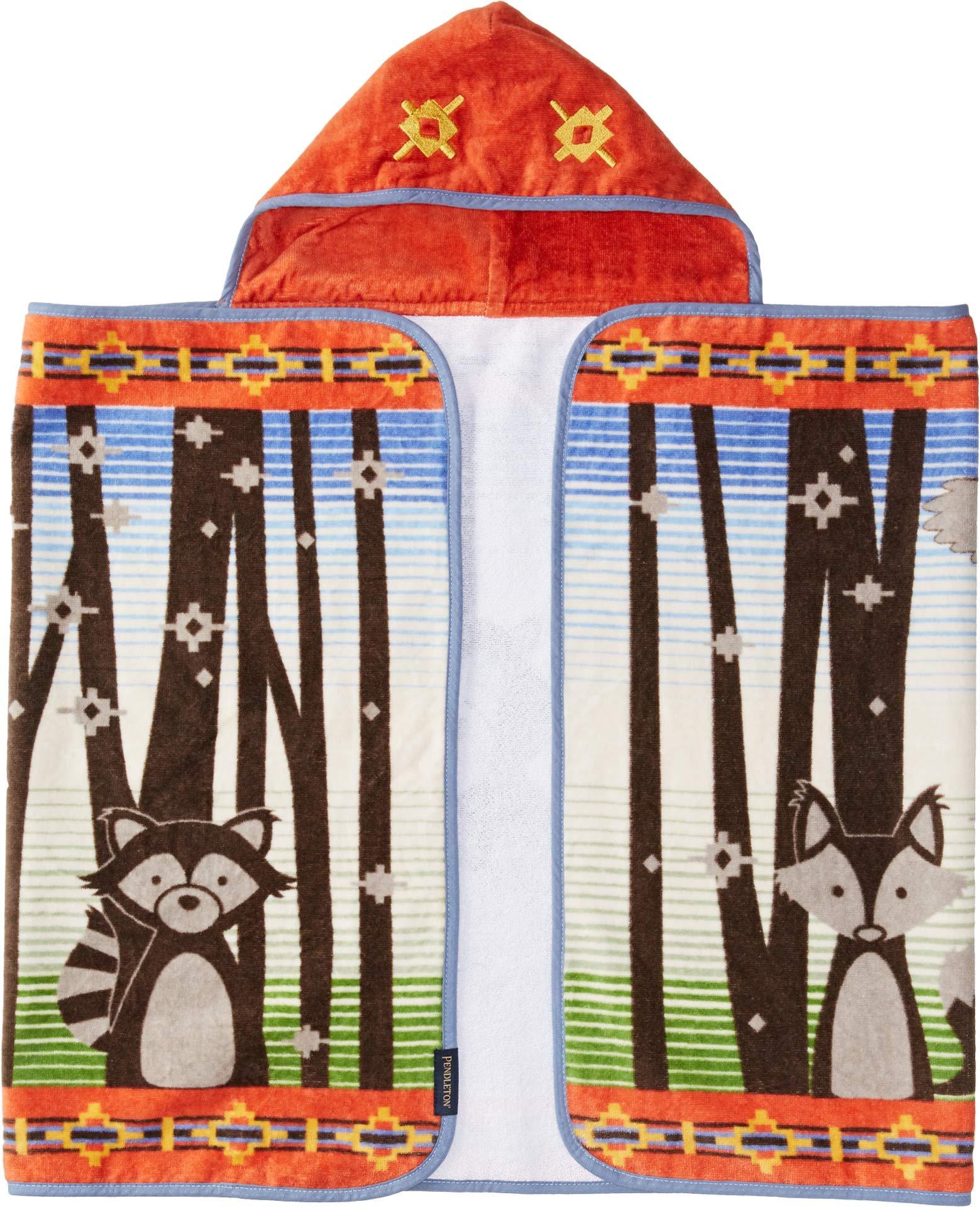 Pendleton Printed Hooded Baby Towel Multi/Woodland Neighbors One Size by Pendleton