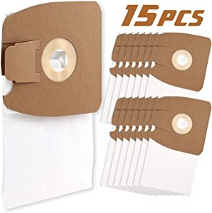 LotFancy 15PCS Vacuum Bags Fits for Eureka Canisters Style MM Eureka Mighty Mite 3670 and 3680 Series Canisters Vacuum
