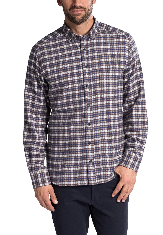 Eterna Long Sleeve Shirt Modern FIT Flanel Checked