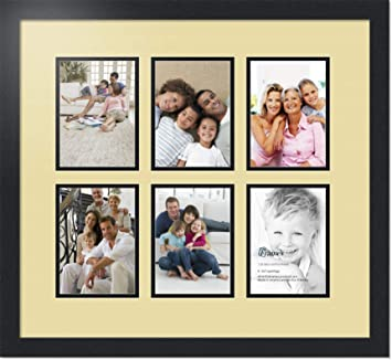 Amazoncom Arttoframes Collage Photo Frame Double Mat With 6 5x7