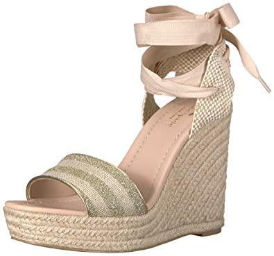 cc3d440bbd55 Kate Spade New York Women s Delano Espadrille Wedge Sandal Gold Natural 8.5  ...