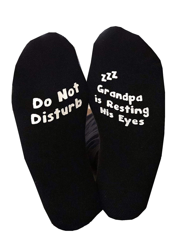 Do Not Disturb Grandpa Is Resting His Eyes Papa Socks NON SLIP Fathers Day Birthday Dad Funny Gift Birthday Gift Mens
