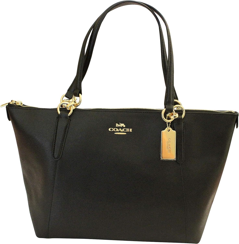 COACH Crossgrain Ava Tote Shoulder Bag Black 811fRReH-7LSL1500_
