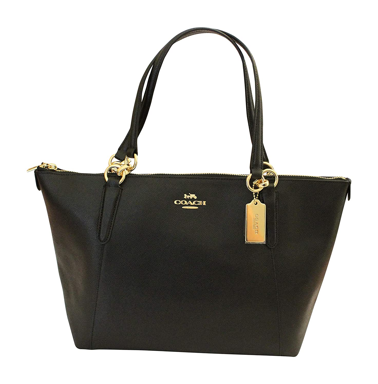 c7e0c1965e COACH Crossgrain Ava Tote Shoulder Bag Black