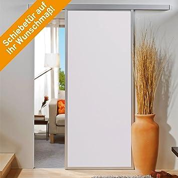 inova Schiebe-Tür auf Sonder-Maß bis 1200x2700mm Holzdekor weiß mit ...