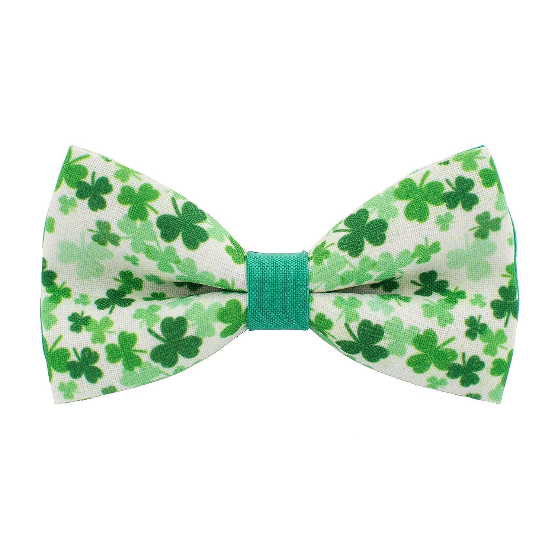 Bow Tie House Saint Patrick's day pattern pre-tied unisex shamrock bow tie 09056