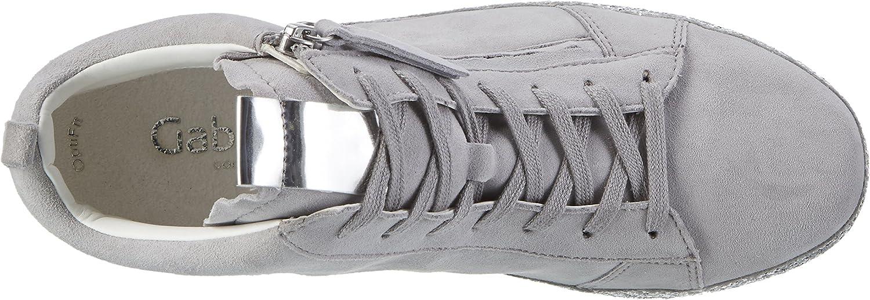 Gabor Damen Comfort High-Top Sneaker Grau Lightgrey Kristall 80